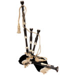 EBONY BAGPIPE WITH BLACK COVER FULL SIZE