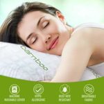 IK QUEEN SIZE PREMIUM BAMBOO PILLOWS (2-PACK) FOR SLEEPING WITH WASHABLE PILLOW COVER & ADJUSTABLE L