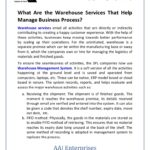 What Are the Warehouse Services That Help Manage Business Process?